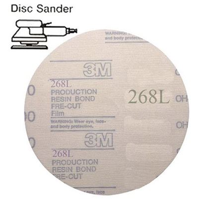 Picture of Microfinishing Film PSA Disc 5 40mic  (Stainless)   25/pack