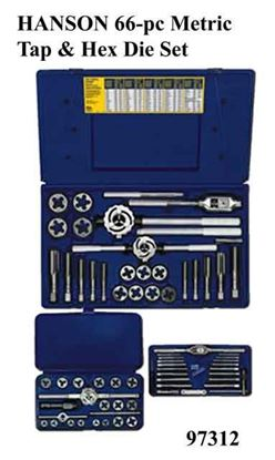 Picture of HANSON 66-pc Metric Tap & Hex Die Set / 97312