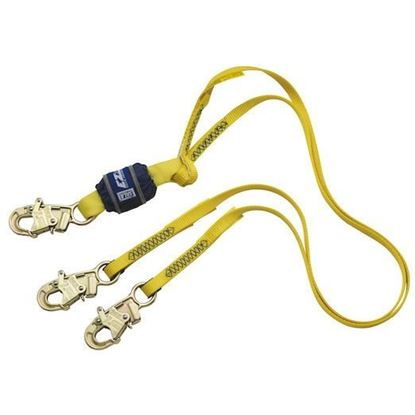 Picture of Shock Absorbing Lanyard | 6' Double Leg Nylon | Standard Hook