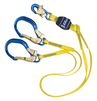 Picture of Shock Absorbing Lanyard | 6' Double Leg Nylon | Large Hook
