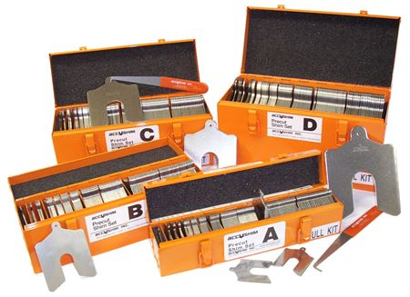 """Picture for category Slotted Shim Kit  Size """"B"""" (3x3)"""