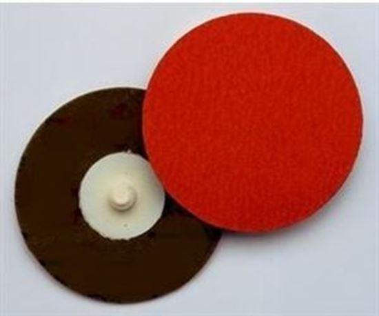 """Picture of 3M™ Roloc™ Disc 777F Sanding Disc 3"""" YF 36X / Ceramic / Roloc 'R'"""