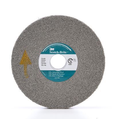 Picture of 3M™ Scotch-Brite™ EXL Deburring Wheel 6 X 1/2 X 1 8SFIN (09548)