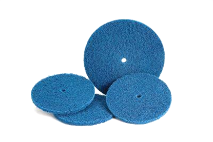 Picture of Scotch-Brite™ High Strength Discs - 6 x 1/2 - Medium - Blue (32517)