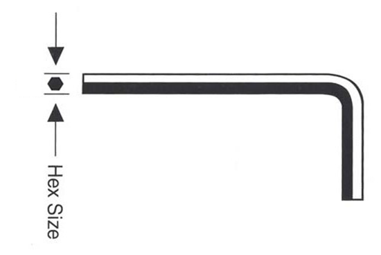 """Picture of 1"""" Long Arm Allen Wrench"""