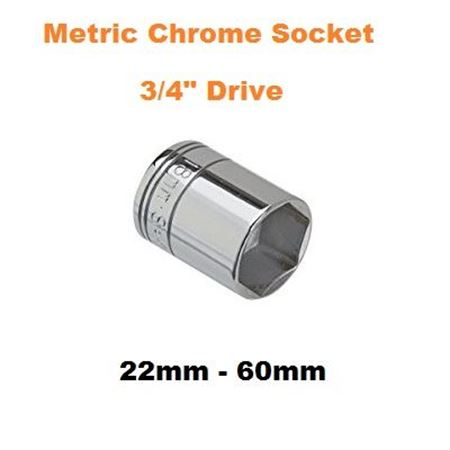 "Picture for category Metric Chrome Socket  3/4""Drive"