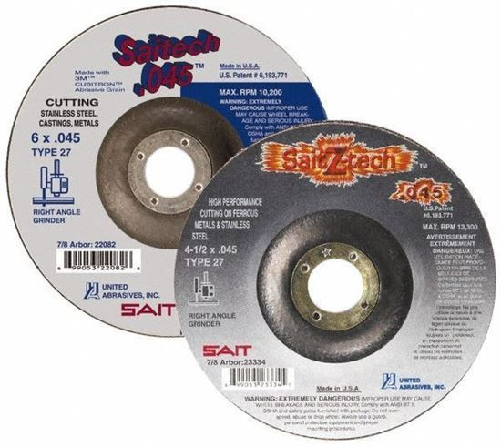 """Picture of Abrasive Wheels 4-1/2"""" Type 27"""
