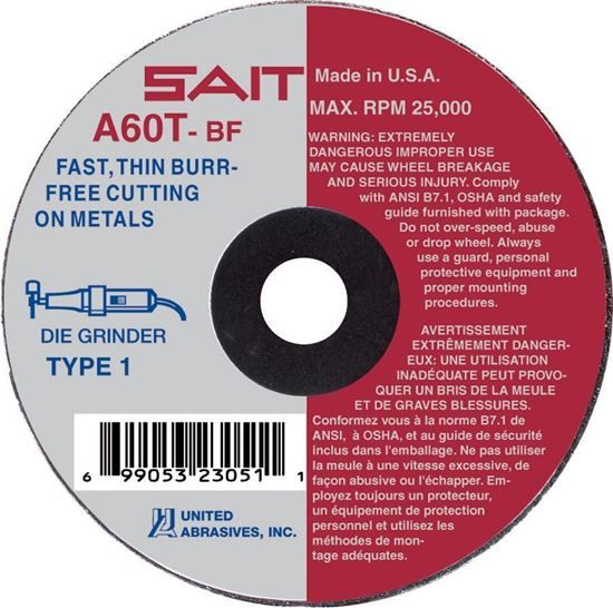 """Picture of Cut-Off Wheel T1 General Purpose 3"""" X 1/16"""" X 3/8""""AH*"""