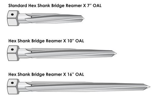 "Picture of Hex Shank Bridge Reamer 2 """