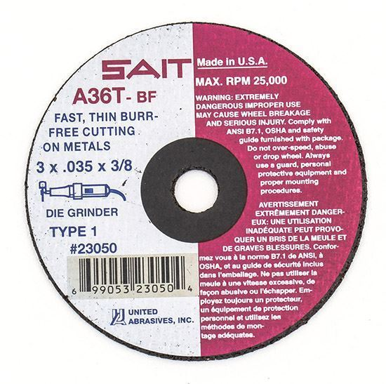 "Cut-off Wheel High Speed 2"" x 1/16"" x 3/8"""