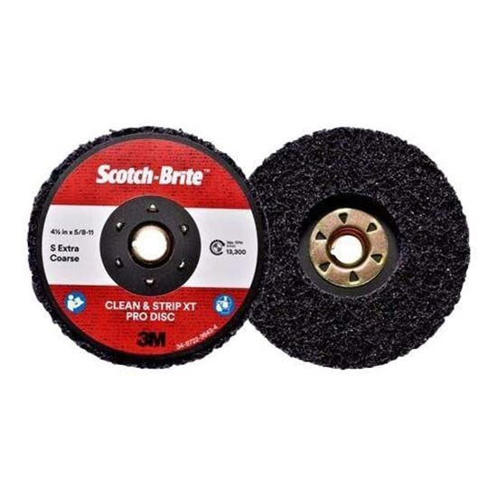 Scotch-Brite™ Clean and Strip XT Pro Disc, TN Quick Change, 4-1/2 in x 5/8 in-11, S XCS