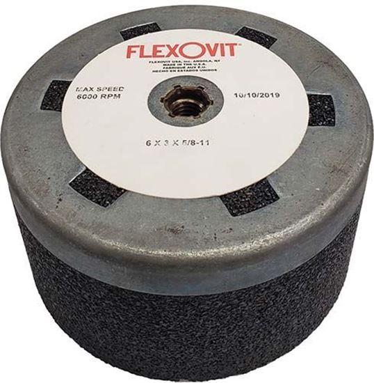 Flexovit Type 6 Rail Grinding Straight Cupstone 6 x 3 x 5/8-11