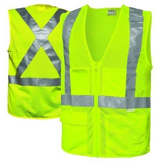 Hi-Visibility Breakaway Vest - X-Back (Lime Green)