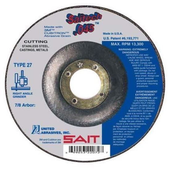 Cut-Off Wheel T27 Stainless Steel 4-1/2 X .045 X 7/8