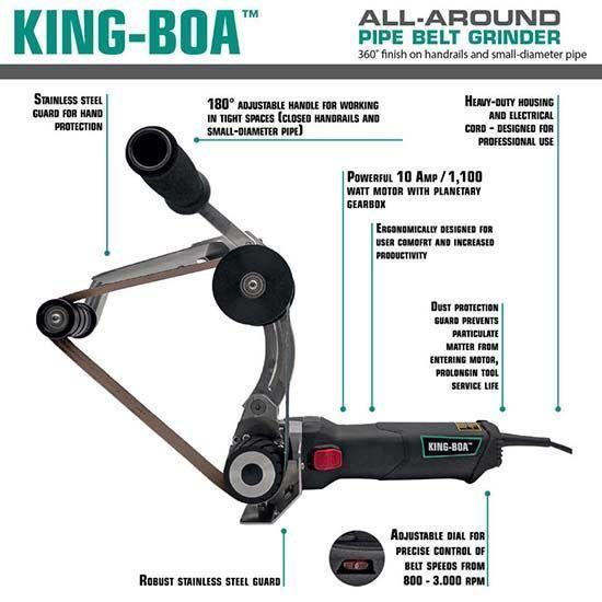 KING-BOA™ Round Tubing Sander